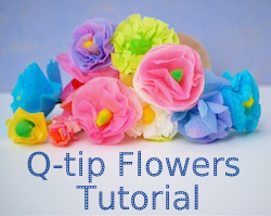 Q-tips Flowers Tutorial button