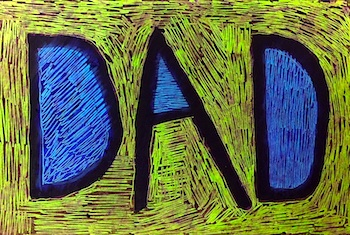 Art Projects for Kids father's day card scratch art