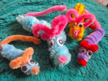 Mermaids' Makings pipecleaner mice