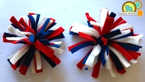 American Felt and Craft felt firecracker hair clips