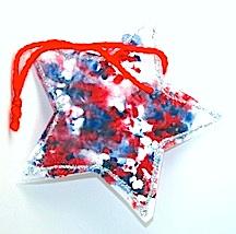 Wax paper crayon stars