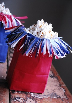 Family Chic firecracker popcorn bag