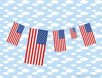 Mr. Printables 4th of july printable flag