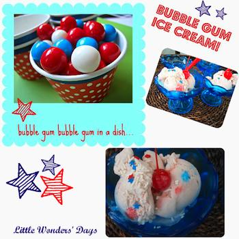 Little Wonders' Days patriotic bubble gum ice cream
