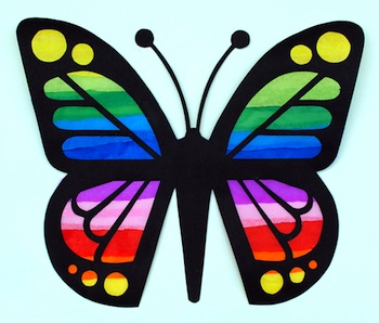 Mini-eco butterfly suncatchers