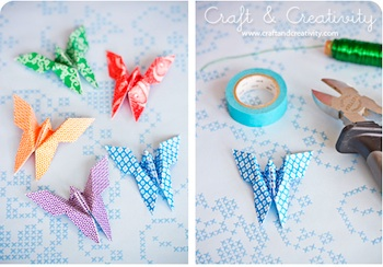 Craft & Creativity origami butterflies