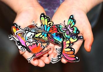 SmART Class shrink plastic butterflies