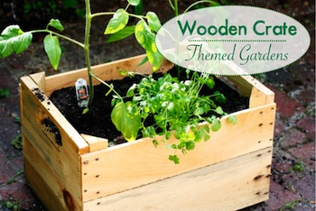 Playful Learning wooden crate gardens