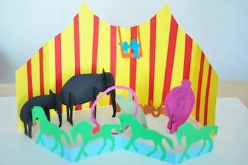 Lilla A paper 3D circus