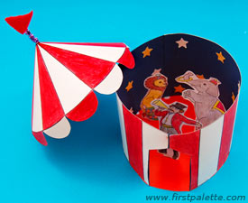 First Palette paper circus tent & Circus Crafts! - Things to Make and Do Crafts and Activities for ...