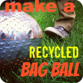 Mamascout make a recycled ball craft