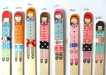 Teawagontales popsicle stick dolls