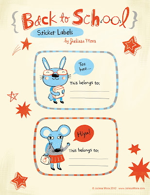 We Love To Illustrate back to school printables