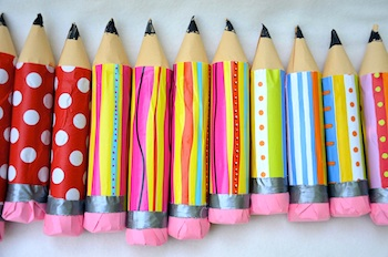 Ikat Bag pencil treat holders