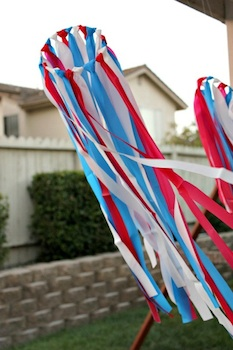Multiples and More red white blue wind streamers