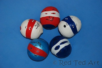 Red Ted Art's Blog 4th of july balloon juggling ball