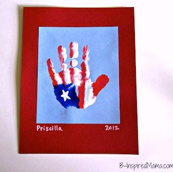 B.Inspired, Mama! patriotic hand print