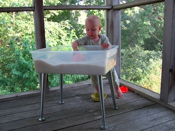 A Life Sustained diy rice play table