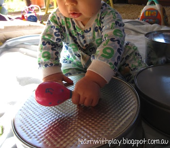 Learn With Play cake tin drums for baby