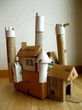 Acorn Pies cardboard castle