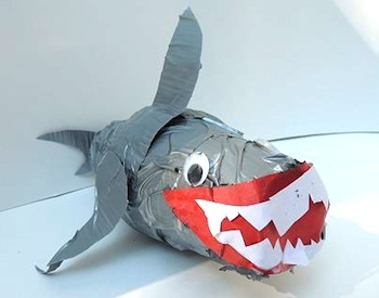 Naturally Educational duct tape shark craft