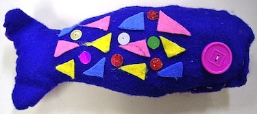 Use Your Coloured Pencils felt fish