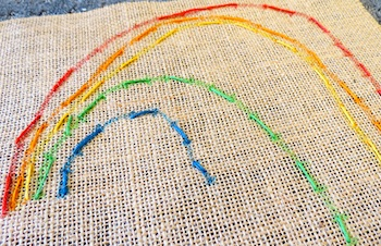 Childhood 101 beginning stitchery for kids rainbow