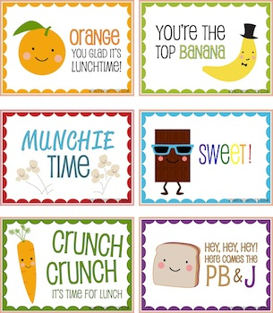 Orange Kitty Crafts silly lunch note printable