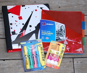 Avery school supplies promotion