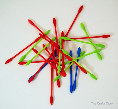 CC Q-tip game box pick-up sticks