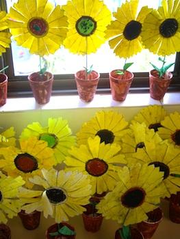 Make Cheerful Paper Sunflowers