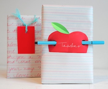 Willowday back to school apple gift wrap