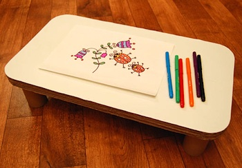 Play And Grow drawing tray from recycled cardboard