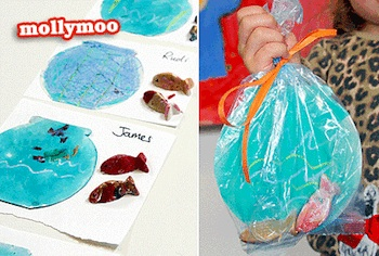 Molly Moo fish and fishbowl craft