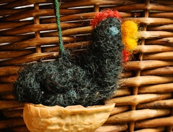 Rhythm of The Home needle felted chicken tutorial