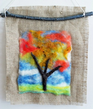 That Artist Woman felted autumn tree craft