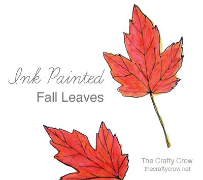 Fall Leaf Ink Painting With Q-tips! - Things To Make And Do, Crafts And  Activities For Kids - The Crafty Crow