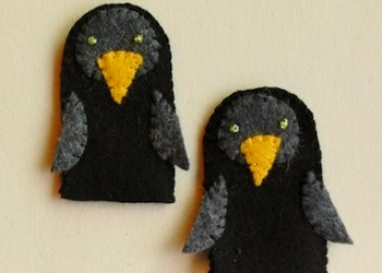 Rhythm Of The Home two little blackbirds finger puppets and rhyme