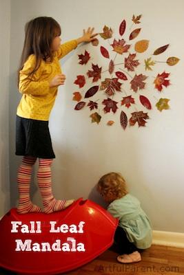 The Artful Year Autumn fall leaf mandala