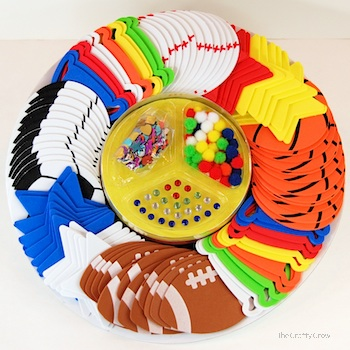 The Crafty Crow sports foamies party platter