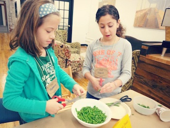 Skill It fall harvest vegetable soup kids cutting veggies