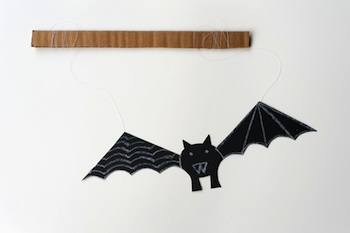 Made By Joel paper bat toy halloween craft
