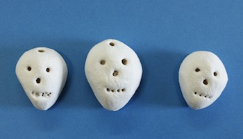 Pintalalluna salt dough skulls for halloween and day of the dead craft