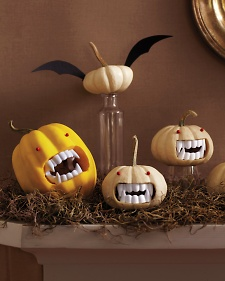 Martha Stewart fanged pumpkins