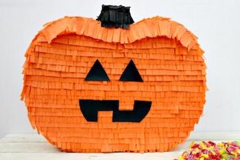 Blissfully Domestic how to make a pumpkin pinata