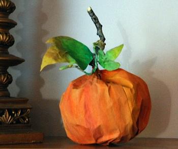 That Artist Woman paper bag pumpkin craft