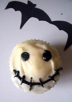 Make, Do and Friend red velvet skeleton cupcakes