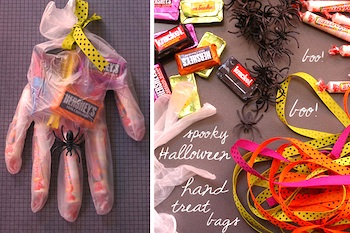 My Paper Crane spooky hand halloween treat bags