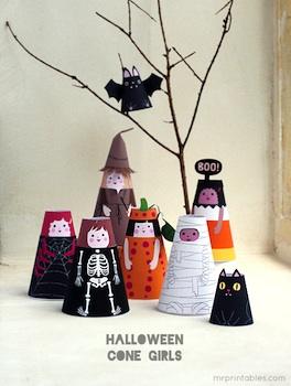 Mr Printables free printable halloween paper dolls