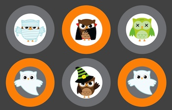 May I Propose A Postcard? free halloween printable labels stickers booing  owls